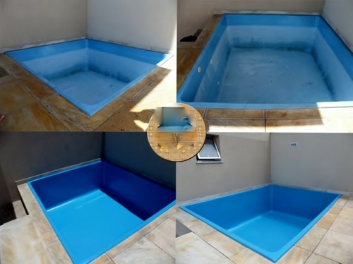 Tinta para piscina de fibra azulejo e concreto em kit r for Piscinas merino