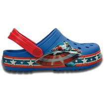 Zapato Crocs Niño Crocband Capitan America Clog