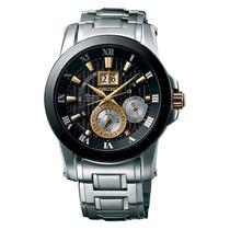 Reloj Luxury Seiko Snp129p1 Premier Kinetic Silver-tone