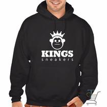 Moletom Kings Sneakers - Blusa Canguru - Super Promoção