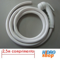 Mangueira Plástica Cardal Branca C/ Ducha Manual 2,5 Metros