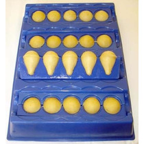 Forma Coxinha Faz 20 Unidades 3,5cm Tamanho Para Buffet