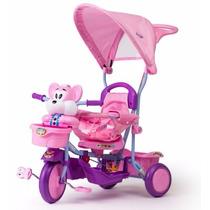 Triciclo Rainbow Turbo Con Barral Capota Luces Sonido Oferta