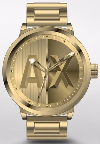 3c145854993 Relogio Masculino Armani Exchange Ax1363 Dourado Completo - R  599 ...