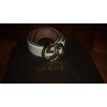 Correa Gucci Blanca. Talla 105/42 O 115cm. Original