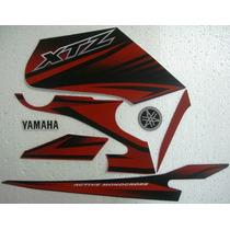 Adesivo Xtz 125 2013 Vermelha, Faixa Original Completa