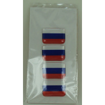 Bandeira Resina Russia Tarjeta Adesivo Placa 2,3 X 1,6cm