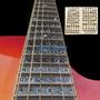 Guitar Neck Fretboard Note Label Learn Fingerboard Inlay