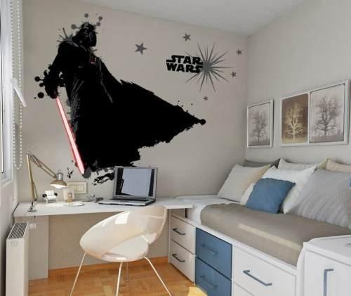 Vinilos decorativos y calcomanias de pared star wars for Calcomanias para dormitorios
