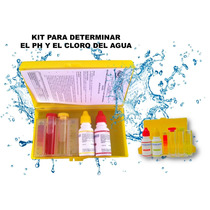 Kit Test Determina Ph Y Cloro Agua Alcalina Albercas Peceras