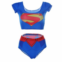 Body Cropped Super Herói Super Homem Fantasia Frete Gratis!