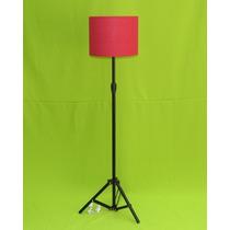 Abajur De Chão,luminaria,pé,coluna Pedestal Tripé Vermelh Cp