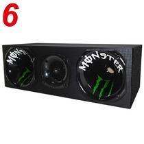 Caixa Corneteira Trio 300 Watts Rms Cones Grafitado Monster