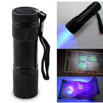 Linterna Uv Lampara Ultravioleta Luz Negra Billetes Luz Led