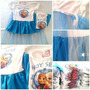Remera Vestido Disfraz Nena Frozen Capa Princesas Disney