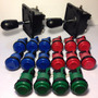2 Palancas Joysticks Y 16 Botones Con Microswitchs Kit