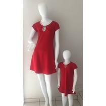 Vestido Tal Mãe Tal Filha Vermelho - Natal