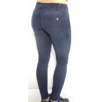 Jeans Mujer Chupin Elastizado Azul Octanos - Compact