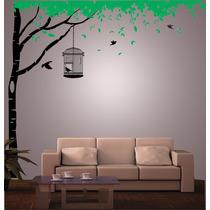 Vinilo Pared Arbol Y Hojas Decoración Wall Stickers