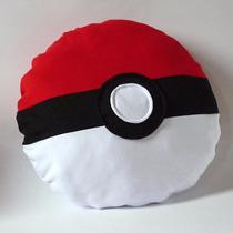 Almofada Travesseiro Pokemon Go Pokebola Frete Grátis