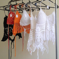 Tops Al Crochet Con Push Up