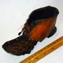 Zapato Artesanía Chilena En Cobre,17 Cm. Largo Muy Antiguo.