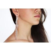 Arete Moda Largos Ondulados Con Finos Cristales 538