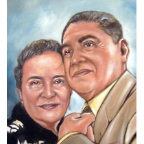 Regalo Original Aniversarios,bodas Pintura Oleo, Retrato