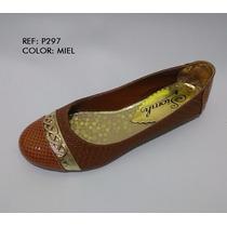 Baletas De Moda Miel Calzado Zapatos Dama Envío Gratis