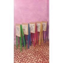 Caballetes De Madera Infantiles Dobles. Fiestas.pinturas