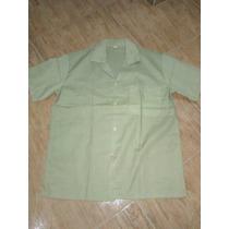 Camisa Escolar Beis Beige Super Oferta Talla S Y M