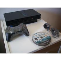 Playstation 2 Ps2 Fat +1 Controle + 10 Jogos Perfeito