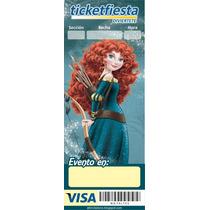 Invitaciones Boleto Ticket Personalizado 12 Pzas