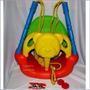 Columpio Para Bebes Niños Osito + Ganchos 44x26x53cm Colegio