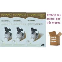 Anti Pulgas Revolution P/ Cães De 5,1 A 10 Kg ( 3 ) Unidades