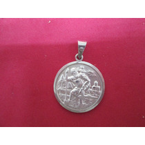 Medalla San Cristobal En Plata Fina .925.