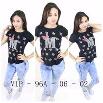 Blusas Feminina Camisa T-shirts Temos Atacado Vip-96a #