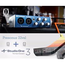 Presonus Audiobox 22vsl Interface + Studio One 3 + Brindes