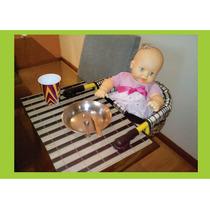 Cadeirinha De Bebe Portatil Para Alimentação Baby Suspença