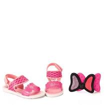 Sandália Infantil Grendene Disney Minnie - 23 Ao 33 - Rosa