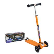Patinete 3 Rodas Scooter Net Racing Zoop Toys - Laranja