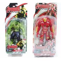 Boneco Incrivel Hulk Kit 2 Avengers Vingadores C Luz 15cm
