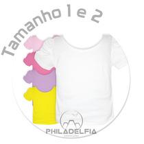 Camiseta Princesa Bebê Nº 01 E 02 - 100% Algodão Penteado