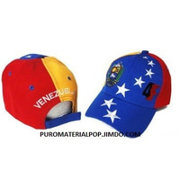 Gorra Tricolor Venezuela 4f .. Drill Bordado Relieve