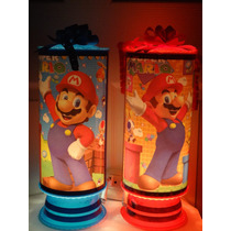 Mario Bros Centros De Mesa, Recuerdos, Lamparas