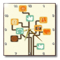 Tb Social Media Internet Icons Geek Tree Vector Design