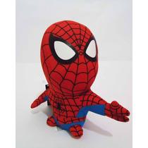 Peluche Spiderman Cabezon De Marvel 19 Cms
