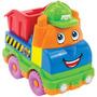 Veiculo Caminhão Monta Desmonta Basculante Brinquedo Menino