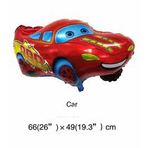 Kit 10un, Balão Metalizado Carros Relâmpago Macqueen 66x49cm