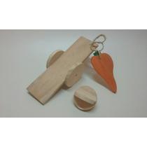 Kit Brinquedos Para Chinchila Coelho Porquinho Da Índia E Ro